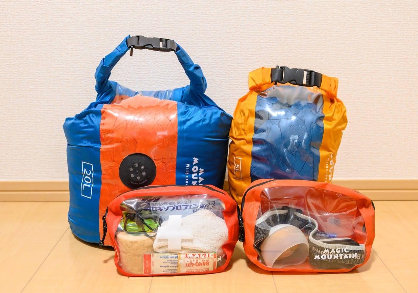 登山のポーチやスタッフバッグに「防水&透明で中身が見える」マジックマウンテンが超おすすめ