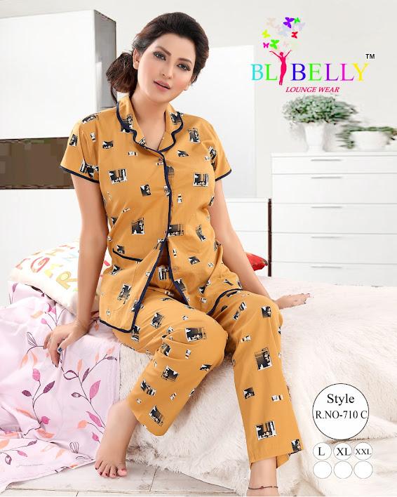 Fashion 186/2 Belly Ladies Night Suits Manufacturer Wholesaler