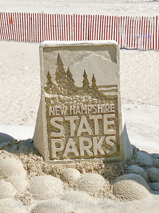 sand sculpture New Hampshire state parks