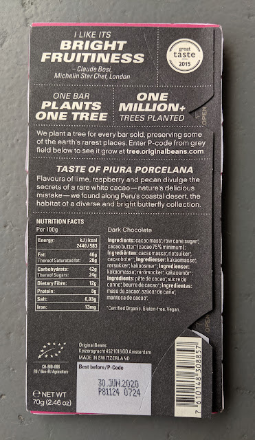 75% piura porcelana original beans bar