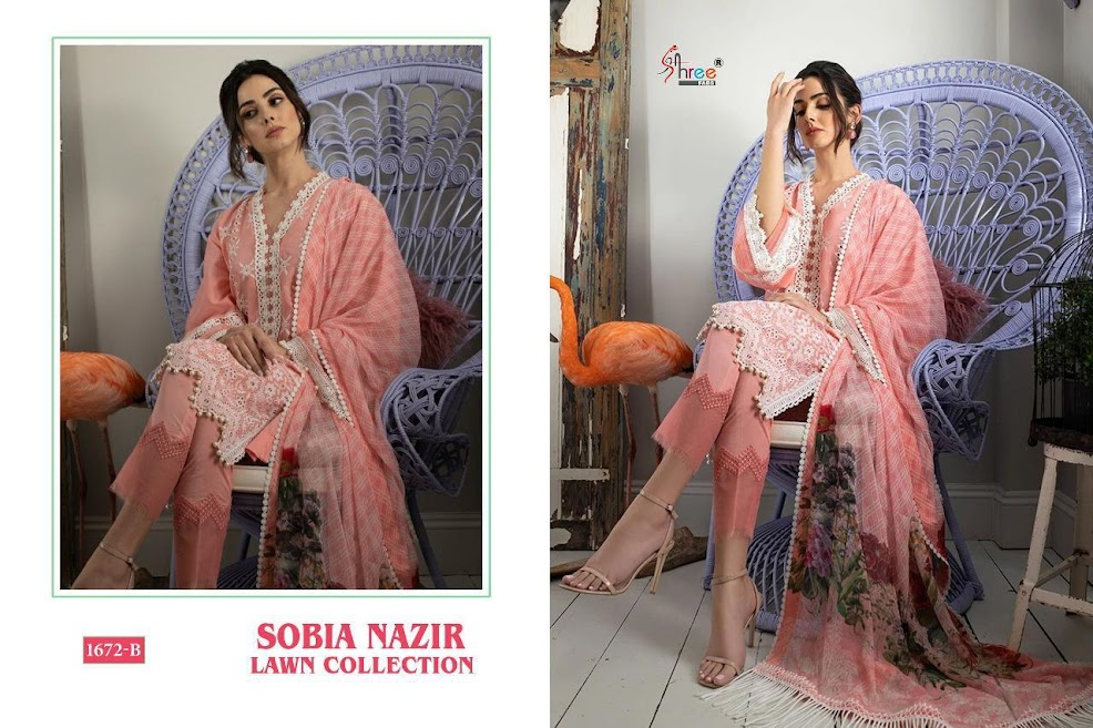 Shree Fabs Sobia Nazir Lawn Collection Pakistani Salwar Suits Catalog Lowest Price
