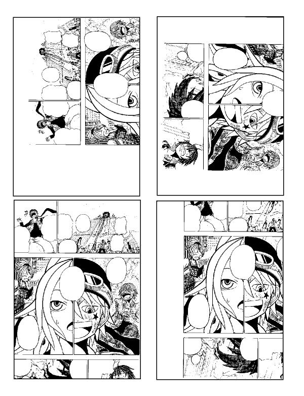 B4アナログ漫画読み込み