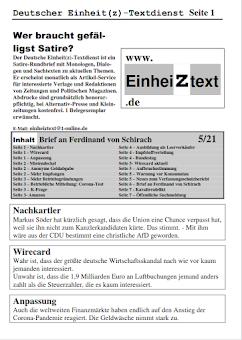 Faksimile: Einheiztext 5/21 Seite 1.