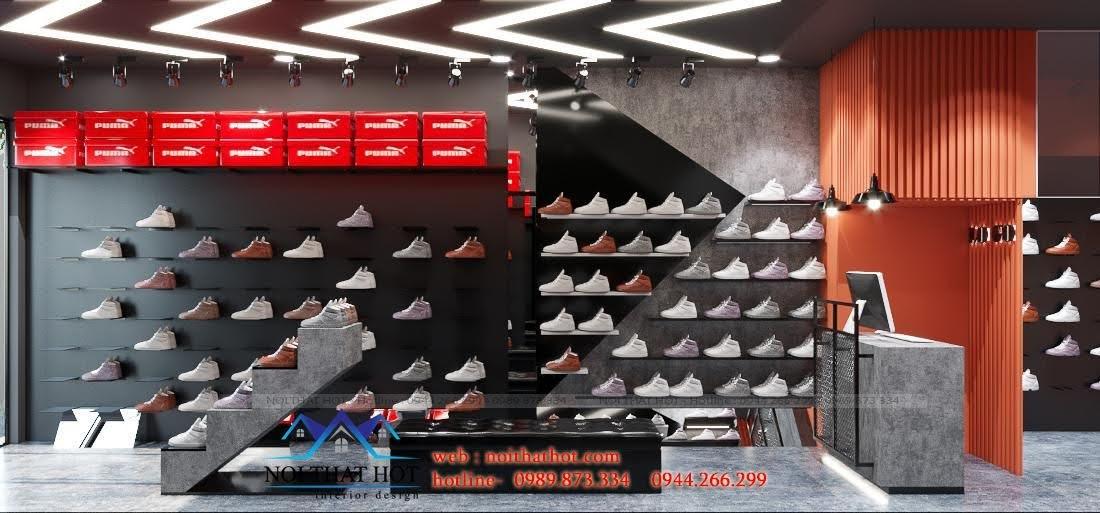thiết kế shop giày sneaker cá tính