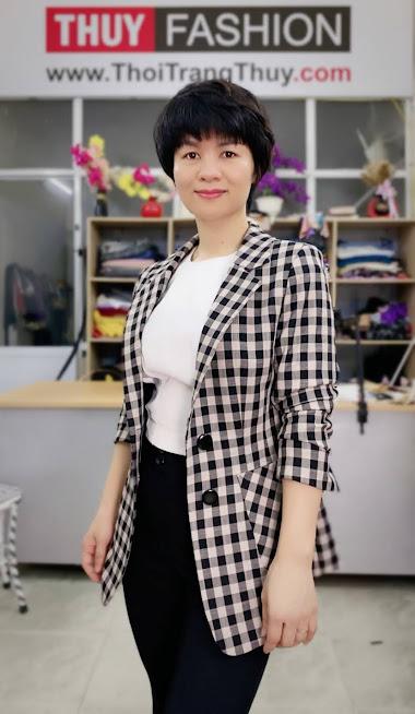 Áo vest nữ kẻ caro mix đồ quần ống vấy màu đen trắng V738 thời trang thủy quảng ninh