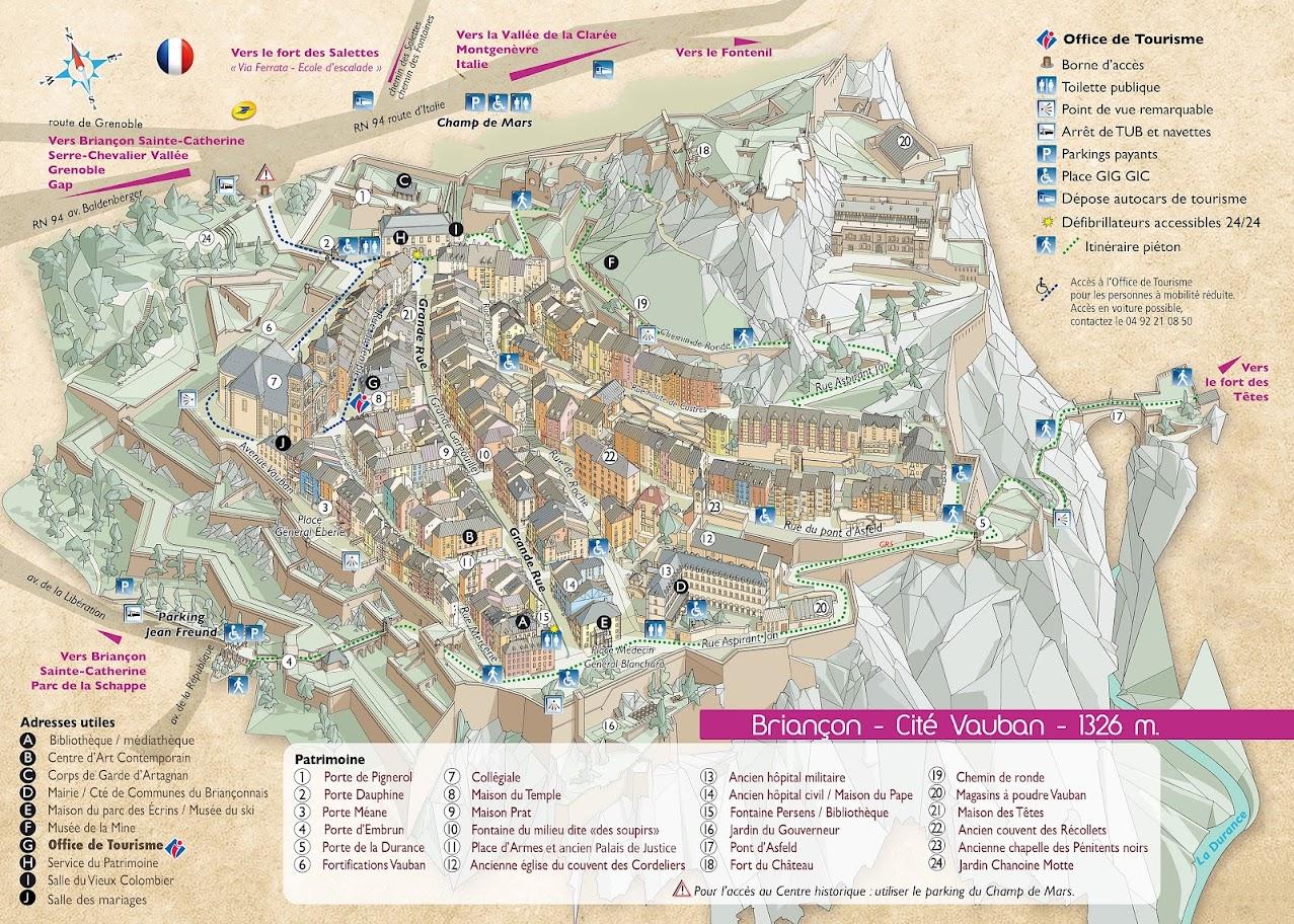 mappa Briançon villaggio medievale