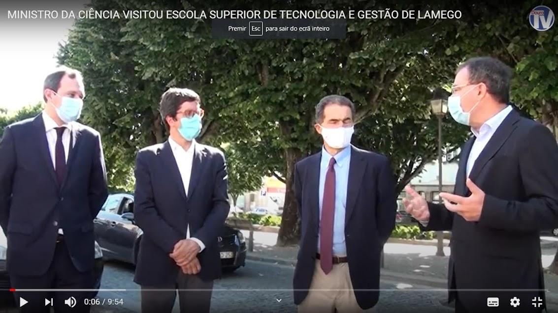 Ministro da Ciência visitou Escola Superior de Tecnologia e Gestão de Lamego