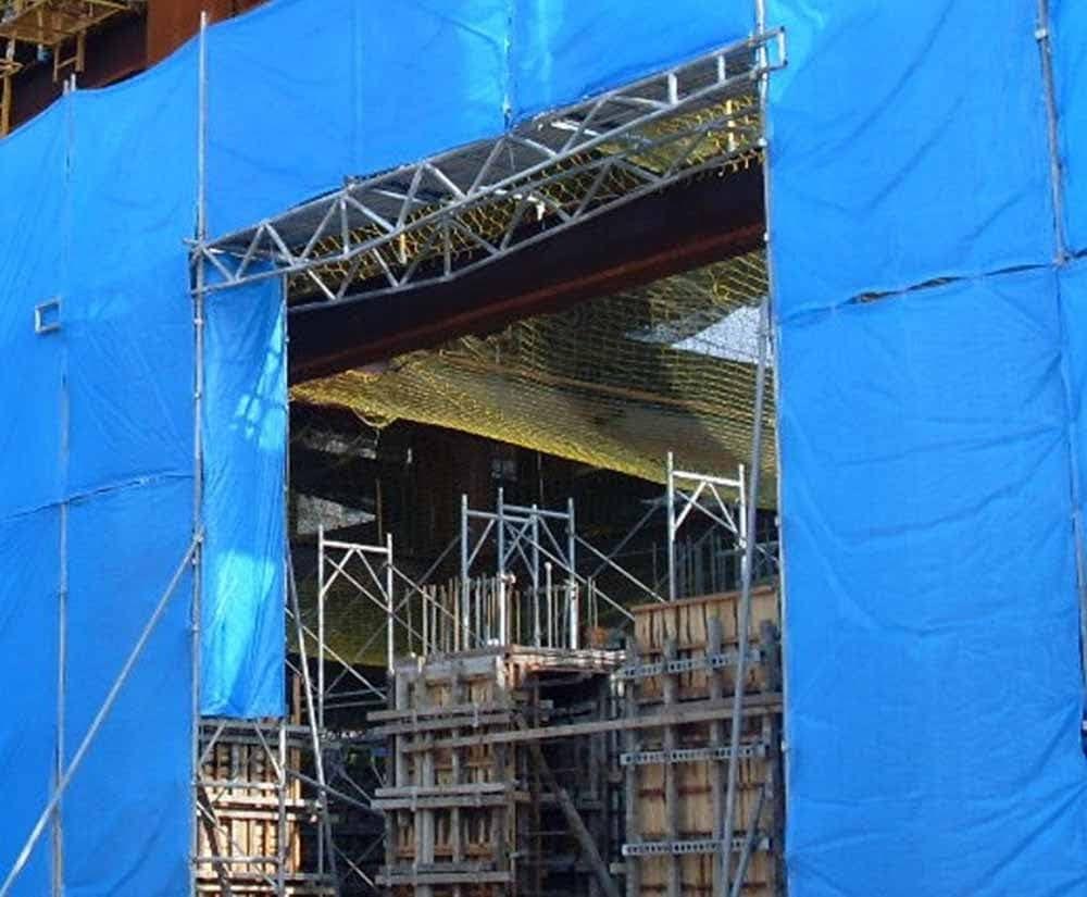 鋼管鷹架跨樑