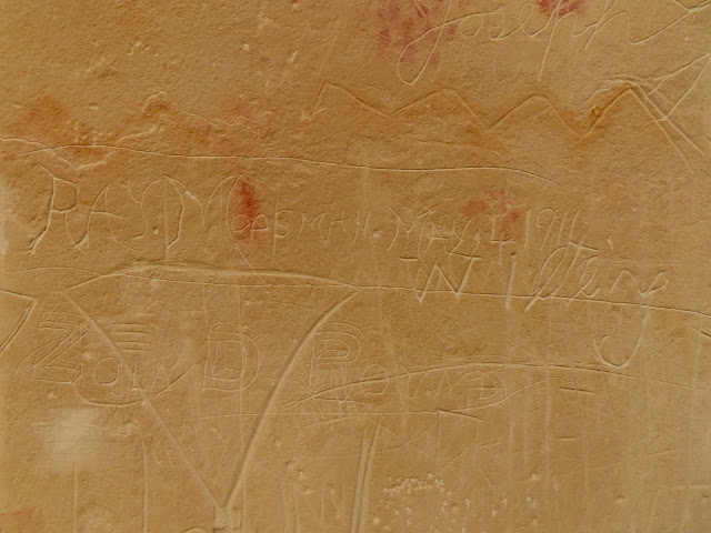 Inscriptions across the Birch Creek rock art