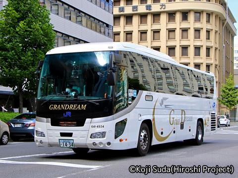西日本JRバス「北陸道グラン昼特急大阪号」 641-4934