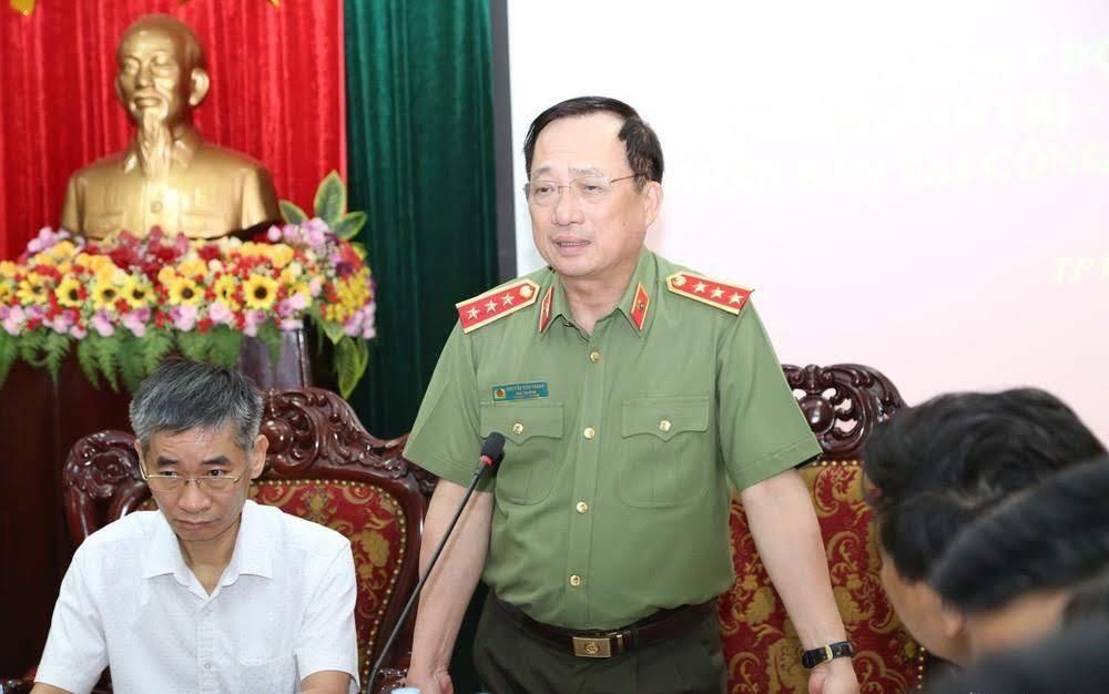 Thượng tướng Nguyễn Văn Thành phát biểu chỉ đạo tại buổi khảo sát.