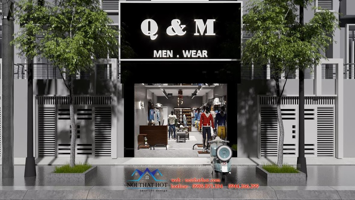 thiết kế mặt tiền shop thời trang