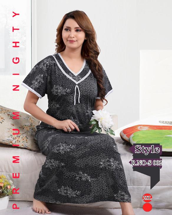 Vol 224 Kavyansika Designer Nighty Manufacturer Wholesaler