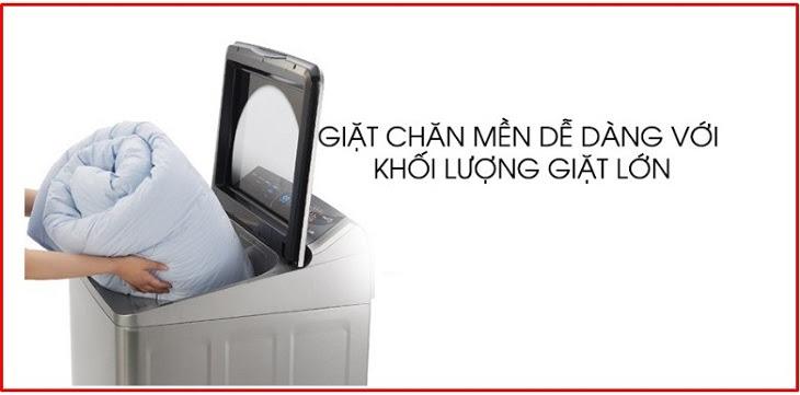 chọn máy giặt có khối lượng trên 10kg để giặt chăn mền