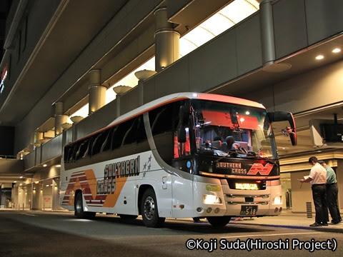 南海バス「サザンクロス」長岡線 ・518 なんば高速BT改札中