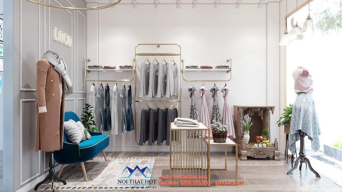 thiết ké shop quần áo nhỏ 15m2