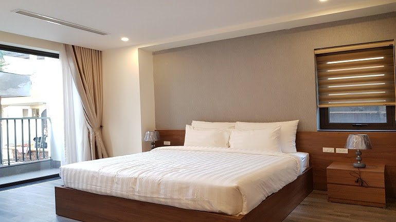Modern two bedroom apartment with balcony in Tay Ho street, Tay Ho district for rent