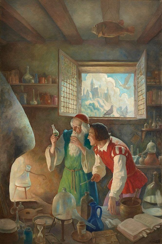 an Alchemist at work N.C._Wyeth_1937.jpeg