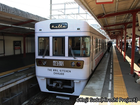西鉄 6050形改造「THE RAIL KITCHEN CHIKUGO」 全貸切ツアー 太宰府駅到着_01