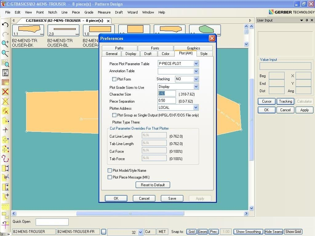 Tạo Ghi Chú Lên Chi Tiết Rập Trong Gerber Pattern Design 3