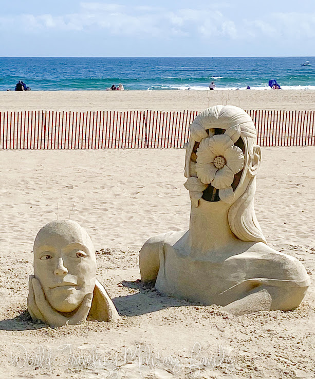 sand sculpture face mask