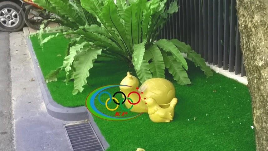 Đáp án tuyệt nhất cho thiết kế chính là Thảm cỏ nhựa