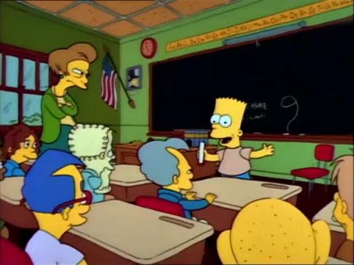 Los Simpsons 2x01 Bart reprueba
