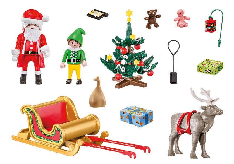 Contenido real de Playmobil® 70312 Maletín Grande de Navidad