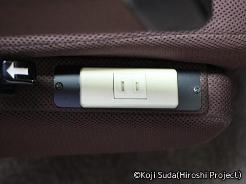 中国JRバス「出雲ドリーム博多号」 641-3955 座席コンセント