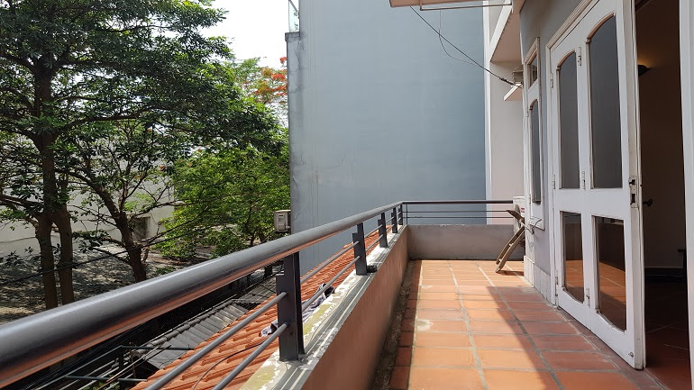 Balcony 2 – bedroom apartment in Tu Hoa street, Tay Ho district for rent