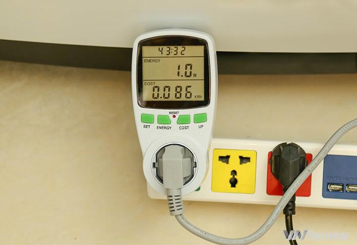 điện năng tiêu thụ trong khoản giặt