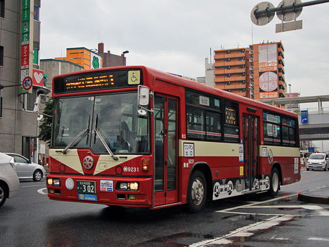 西鉄バス北九州 八幡 9231 北九州市内線復刻塗装車_02