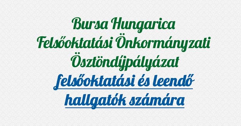 Bursa Hungarica Felsőoktatási Önkormányzati Ösztöndíjpályázat 2021