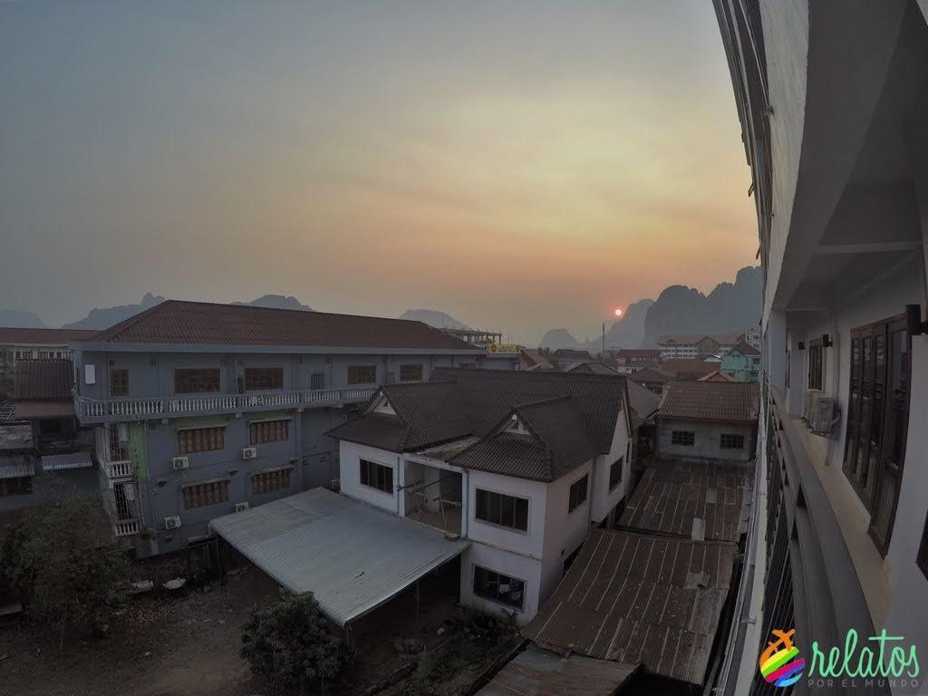 Atardecer en Vang Vieng