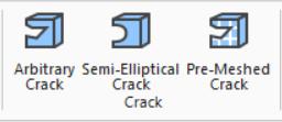 Автоматическое создание полуэллиптической трещины (Semi-Elliptical Crack) в любом месте модели. Для задания трещины достаточно просто указать её положение и ориентацию