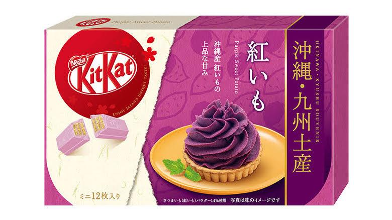 Kitkat vị khoai lang tím – Món quà đến từ Kyushu, Okinawa - Nội địa Nhật Bản