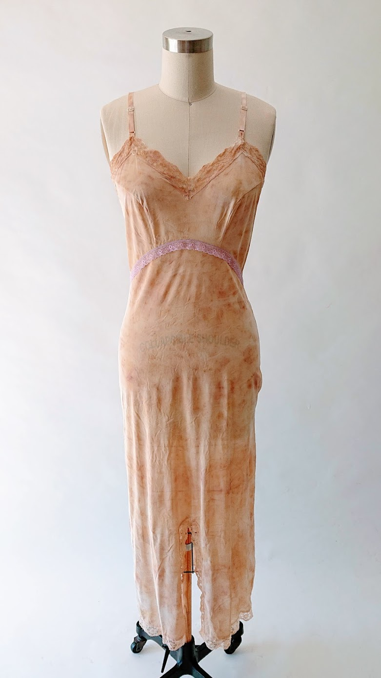 Naturally Dyed Night Gown - Refashion Project | Fafafoom Studio