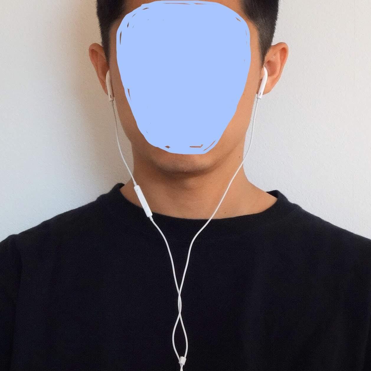 EarPods レビュー装着状態の写真
