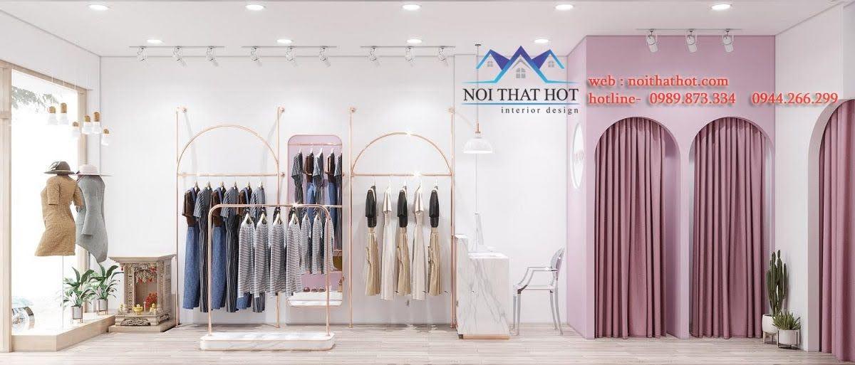 thiết kế cửa hàng thời trang nữ 20m2