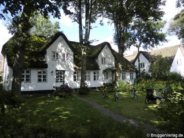 Viel reetgedeckte Häuser auf Föhr