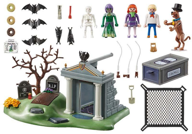 Contenido  de Playmobil® 70362 Aventura en el Cementerio