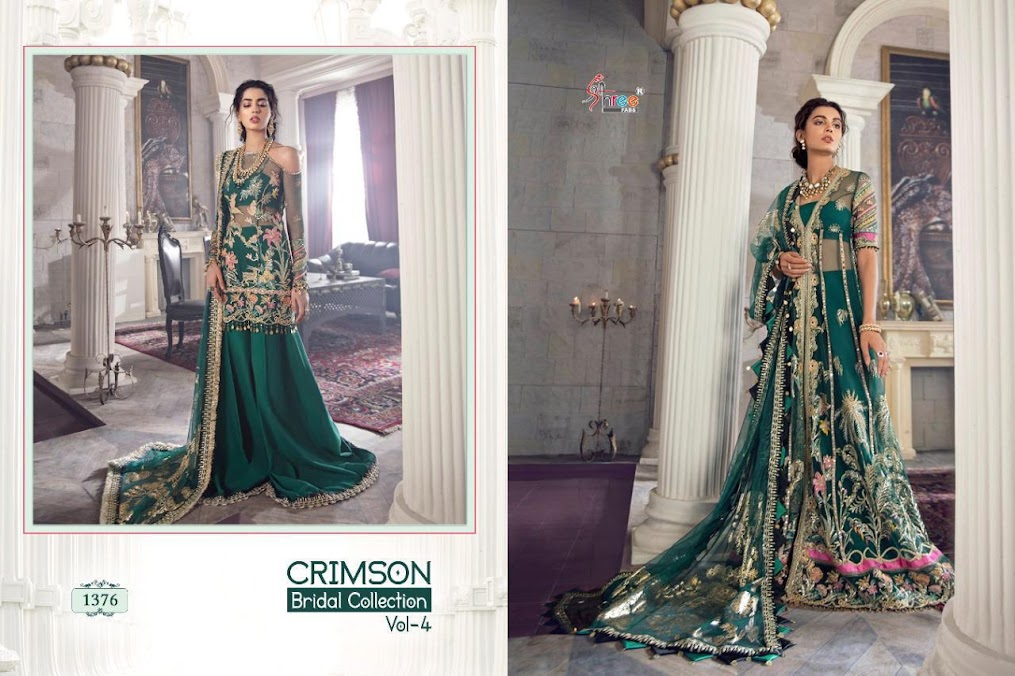 Crimson Bridal Collection Vol 4 Shree Fabs Pakistani Dress Material Manufacturer Wholesaler