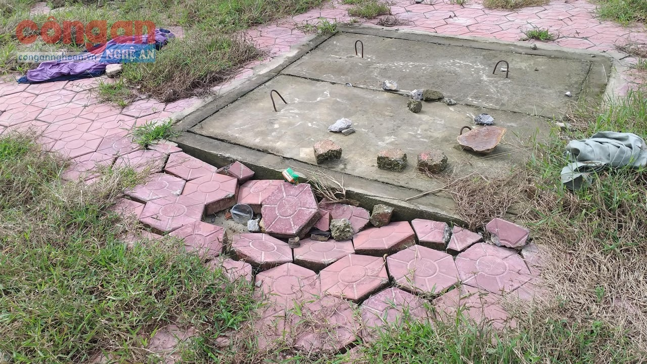 Xung quanh hố ga thu nước mặt đường có tình trạng sụt lún