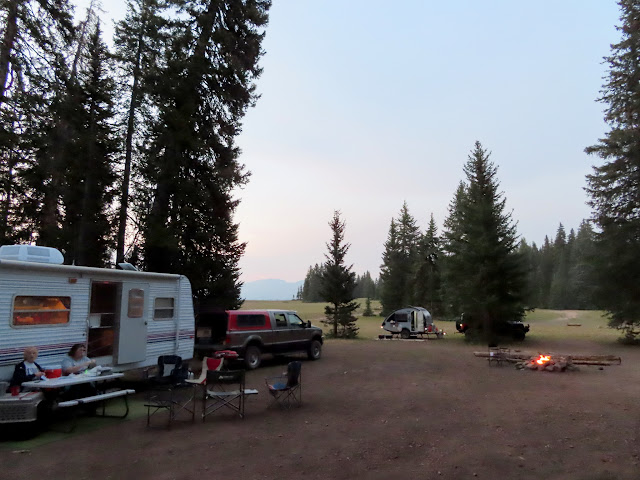 Blurry camp on Thursday evening