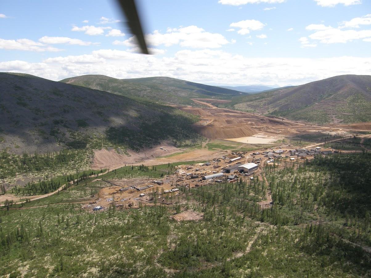 Рудник Таборный, 2007 год, вид с вертолета