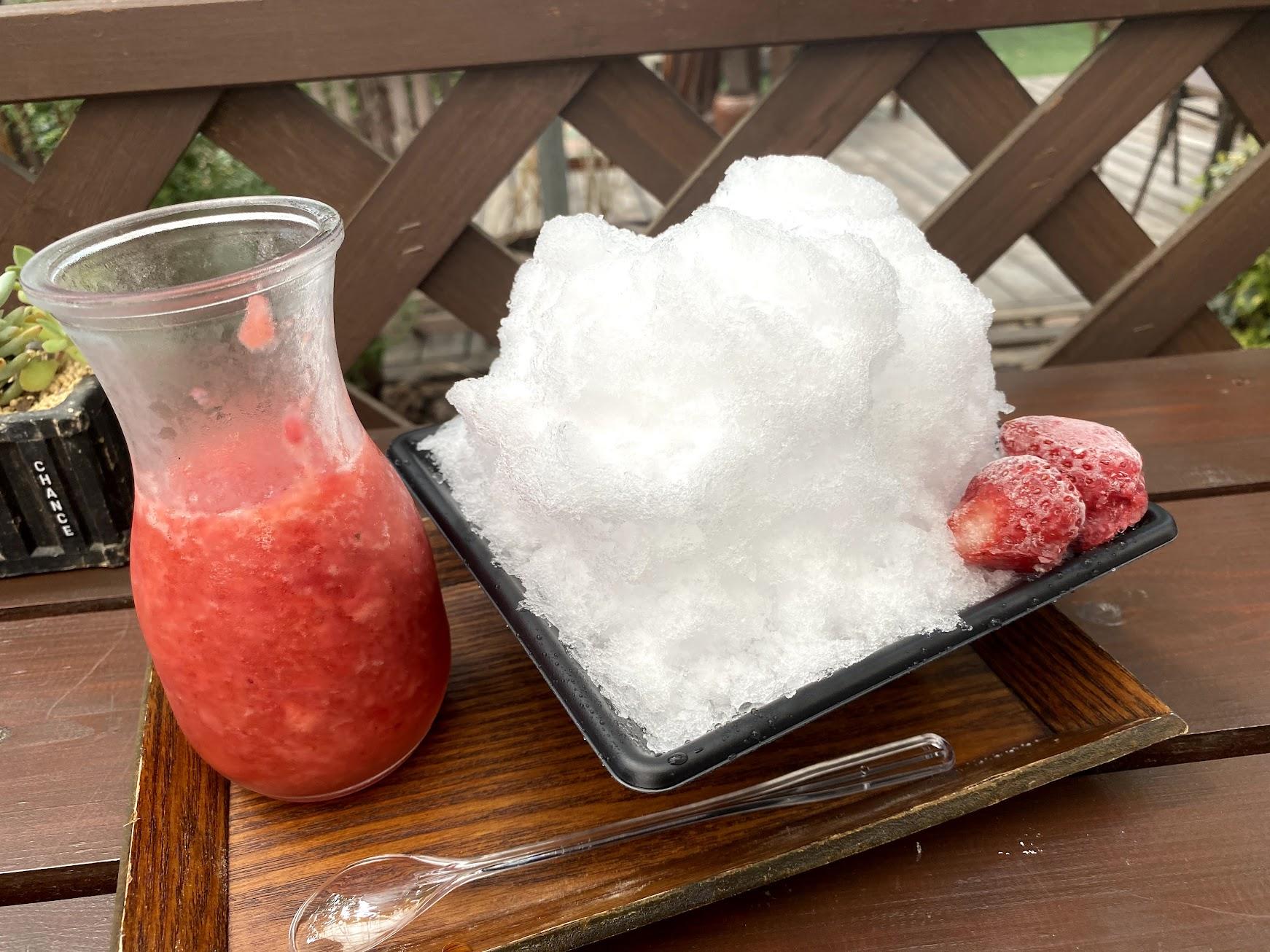 農園かき氷生いちご