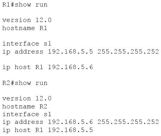 Configured as shown in output in the partial output of the show run command