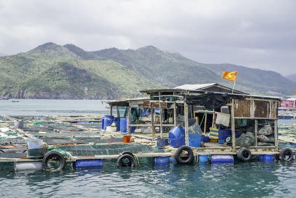 Floating Fishing Village near Nha Trang