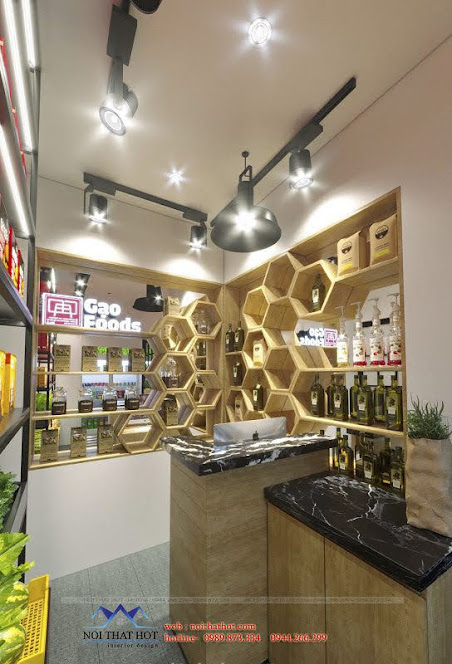 thiết kế cửa hàng thực phẩm