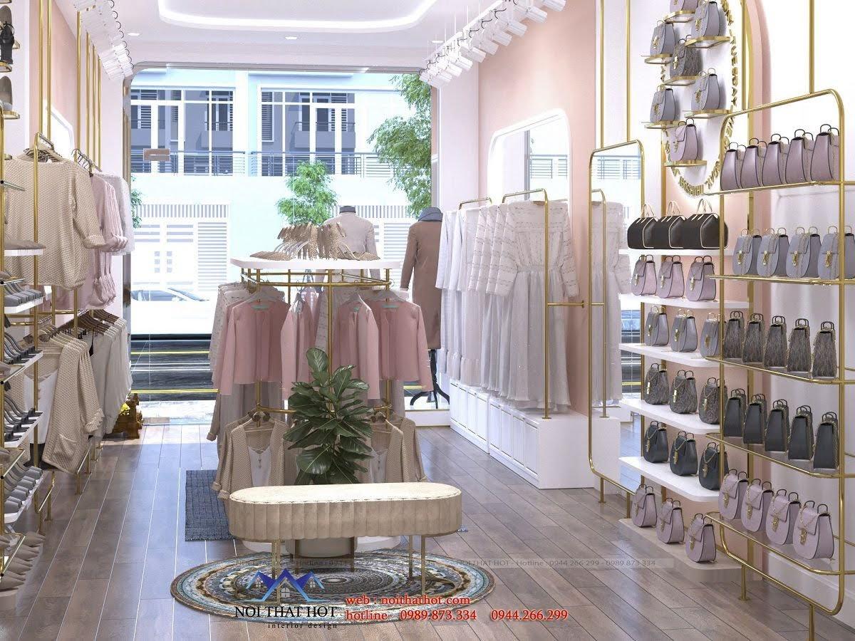thiết kế shop thời trang giày dép túi xách